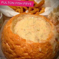 Photo taken at (The Original) Fulton Fish Frye by Cathy V. on 2/9/2013