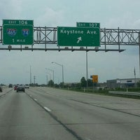 Photo taken at I-65 & S Keystone Ave by Douglas F. on 7/21/2013