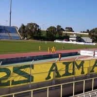 Photo taken at GSZ stadium by Vassilis P. on 2/16/2014