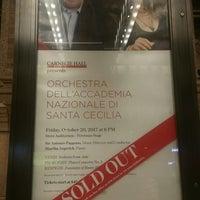 Foto tirada no(a) Stern Auditorium / Perelman Stage at Carnegie Hall por Miguel G. em 10/20/2017