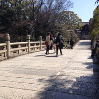 Photo taken at 円通橋 by Nao on 3/27/2015