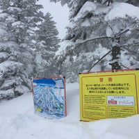 Photo taken at 焼額山山頂 by Nao on 2/18/2018