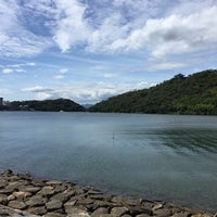 Photo taken at Lake Hamana by Nao on 8/4/2017