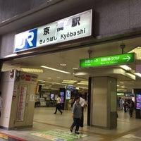Photo taken at JR Kyobashi Station by Nao on 8/17/2015
