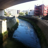Photo taken at かるがも橋 by Nao on 10/20/2012