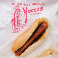 Photo taken at Yocco's - The Hot Dog King by Kira on 1/2/2014