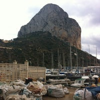 Photo taken at Puerto Ifach by Laura G. on 10/13/2012