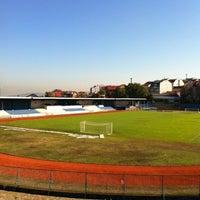 Photo taken at Omladinski stadion   OFK Beograd by Sholle l. on 11/2/2012