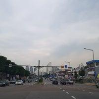 Photo taken at 춘의사거리 by Johnny Jaehwan J. on 8/28/2017
