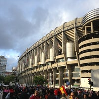 Photo taken at Santiago Bernabéu Stadium by jose augusto g. on 5/17/2013