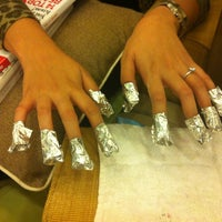 Photo taken at Manos Nail Lounge by Candy D. on 11/14/2012