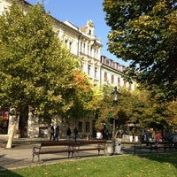 Photo taken at Hviezdoslav Square by Ivana M. on 10/21/2012