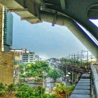 Photo taken at Rithala Metro Station by Sagar G. on 6/23/2015