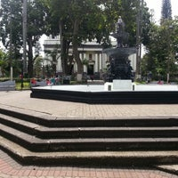 Photo taken at Parque Central de Alajuela by Adrian S. on 7/9/2013