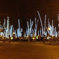 Photo taken at Plaza de la Cruz by C M. on 12/16/2013
