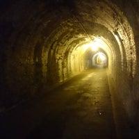 Photo taken at 明治宇津ノ谷隧道 by Osamu E. on 11/13/2016