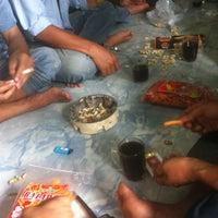 Photo taken at Smoking Area Main Workshop Tyre Pama Indo by Tonz H. on 1/5/2013
