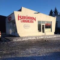 Photo taken at Ísbúðin Laugalæk by Ohsoleymio on 3/1/2015