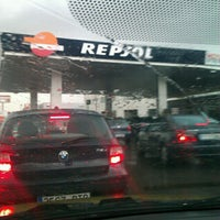 Photo taken at Gasolinera Repsol by Verixu on 12/25/2012