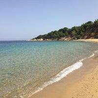 Photo taken at Mandraki beach by Susanna A. on 7/25/2017