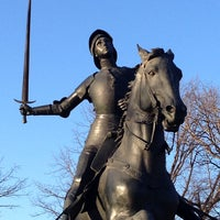 Photo taken at Joan of Arc Statue - Meridian Hill Park by BEAR on 3/20/2014