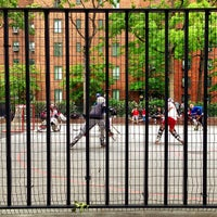 Photo taken at Stuyvesant Town Roller Hockey Rink by Robert S. on 5/18/2013