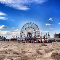 Photo taken at Coney Island Beach & Boardwalk by Robert S. on 7/26/2013