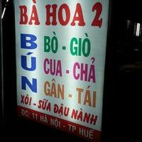 Photo taken at Bún Bò Huế Bà Hoa 2 by Thang N. on 6/22/2013