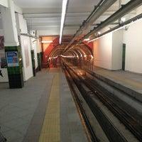 Photo taken at Tünel Tramvay Durağı by Gürkan G. on 1/4/2013