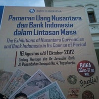 Photo taken at Gedung Heritage Bank Indonesia Yogyakarta by Nina A. on 9/28/2012