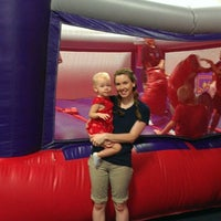Photo taken at Bounce U by Jared R. on 7/4/2013