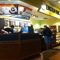 Photo taken at Einstein Bros Bagels by Steingrímur Þ. on 3/1/2013