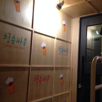 Photo taken at 청춘싸롱 by SungMin S. on 2/27/2014