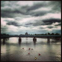Photo taken at Putney Bridge by Andy T. on 9/11/2013