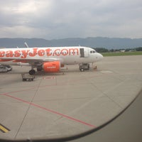 Photo taken at easyJet Check-In by Christian P. on 6/19/2013