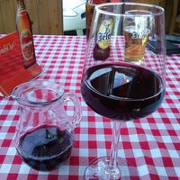"Photo taken at Restoran i pečenjara ""Kod Slobe"" by Nevena S. on 5/3/2015"