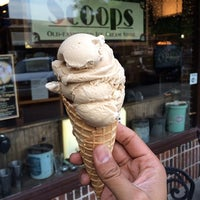Photo taken at Scoops Old-Fashioned Ice Cream Store by Julius Droolius on 4/28/2014