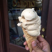 Photo taken at Scoops Old-Fashioned Ice Cream Store by Julius Droolius on 4/27/2014