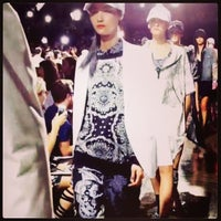 Photo taken at Dkny Fashion show by Michael G. on 9/8/2013