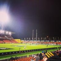 Photo taken at Waikato Stadium by Kieran B. on 7/4/2014
