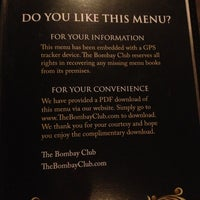 Photo taken at The Bombay Club by Amanda M. on 6/24/2013