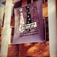 Photo taken at Alpha Gamma Delta House (ΑΓΔ) by Marisa F. on 11/14/2013