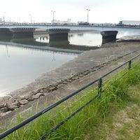 Photo taken at 南千田橋 by Tanitatsu on 9/11/2013