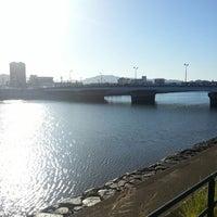 Photo taken at 南千田橋 by Tanitatsu on 9/26/2013