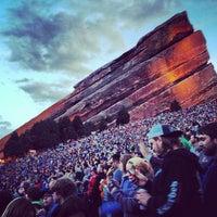 Photo taken at Red Rocks Park & Amphitheatre by Lindsay J. on 5/21/2013