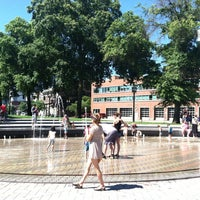 Photo taken at Skidmore Fountain by Samantha F. on 6/29/2013