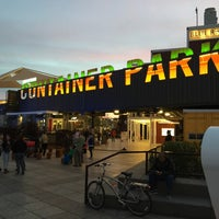 Photo taken at Downtown Container Park by Ricky P. on 1/19/2015