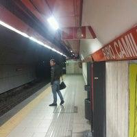 Photo taken at Metro Furio Camillo (MA) by Guido Giacomo C. on 4/23/2013