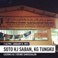 Photo taken at Soto Hj Saban, Kg Tungku by David and Jack .. on 1/8/2013