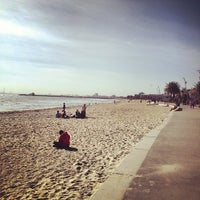 Photo taken at St Kilda Beach by Amy P. on 10/28/2012